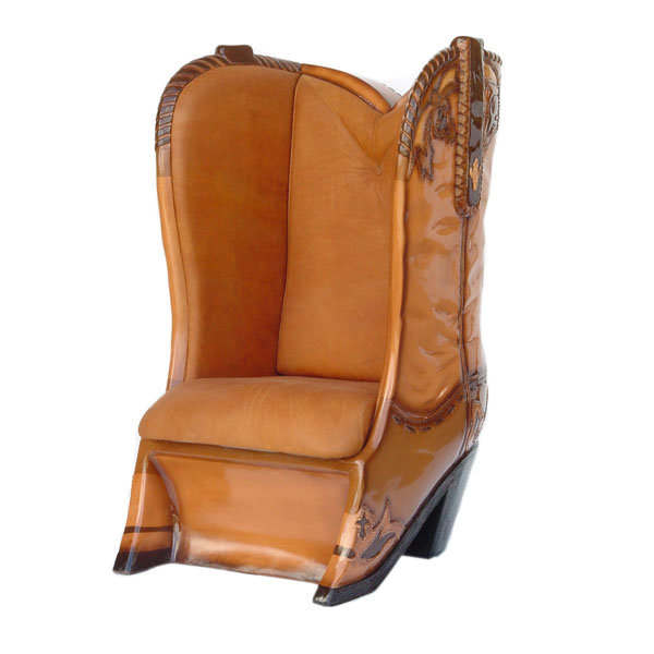sc 1 st  Yab Design & COWBOY BOOT CHAIR WITH REAL LEATHER