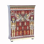 EGYPTIAN CABINET WITH TWO DOORS (RED) 1