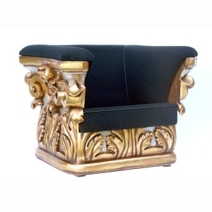 CORINTHIAN ARM CHAIR WITH GOLD LEAF 1