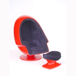 FOOTREST FOR EGG CHAIR (RED) 1