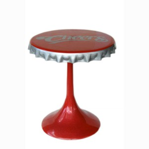 CROWN CORK BAR TABLE with fiberglass base 1