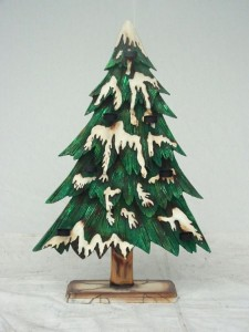 CHRISTMAS TREE 2 SIDED W/ CANDLE HOLDER 1