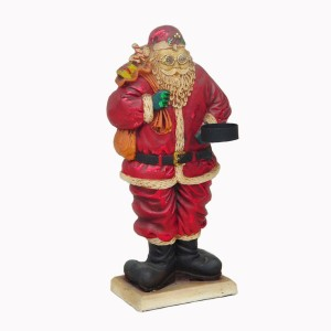 SANTA CLAUS 2 SIDED W/ CANDLE HOLDER 1