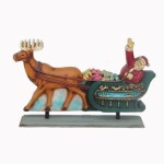 SANTA ON SLEIGH 2 SIDED 1