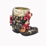 BOOT SANTA FOR FLOWER POT 1