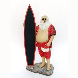 SANTA WITH SURFBOARD 1