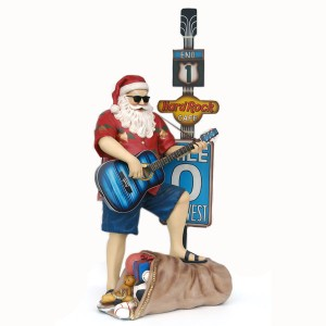 TRAVELLING SANTA W/ GUITAR &#038, HARD ROCK CAFÉ SIGN 1