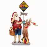 TRAVELLING SANTA W/ REINDEER &#038, SURFER SIGN 1