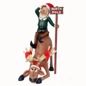 FUNNY REINDEER WITH ELF 1