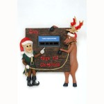 ELF AND FUNNY REINDEER WALL DÉCOR 1