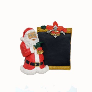 SANTA CLAUS STANDING WITH BOARD 1