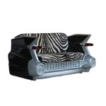 C-CAR SOFA (Black) WITH REAL ZEBRA SKIN 1