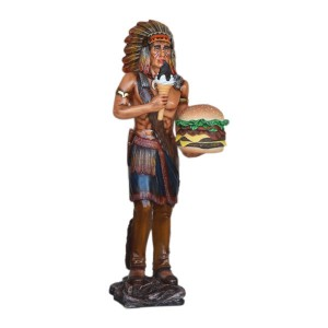 INDIAN WITH HAMBURGER 1