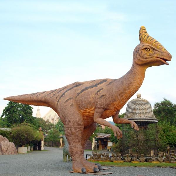 Dinosaur World 66 X 54 Lined Curtains Tie Backs: Saurolophus
